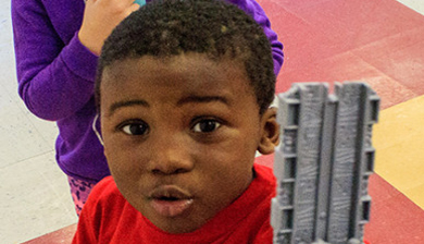 A preschool kid at The Learning Center of Columbus