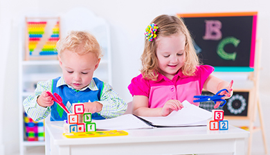 Toddlers in care at The Learning Center of Columbus